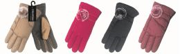 48 Units of Ladies Snow Fashion Gloves - Knitted Stretch Gloves