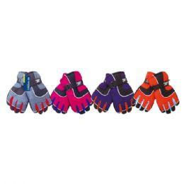 24 Units of Women's Fleece Lined Waterproof Ski Glove - Ski Gloves