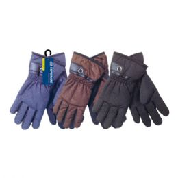 48 Units of Men's gloves - Knitted Stretch Gloves