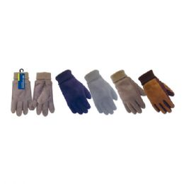 72 Units of Men's Gloves Man Made Leather - Leather Gloves