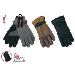 72 Units of Men's Water Resistant Touch Screen Glove - Conductive Texting Gloves