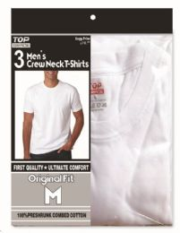 48 Units of Men's T-shirts crew neck Size Medium - Mens T-Shirts