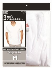 48 Units of Men's T-shirts v neck Size Medium - Mens T-Shirts