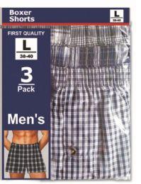 48 Units of Men's 3pk Boxer Shorts Assorted Size - Mens Underwear