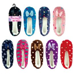 72 Units of Lady's fuzzy slippers - Women's Slippers