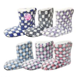48 Units of Lady's's fuzzy boots size 7/8-9/11 - Women's Slippers