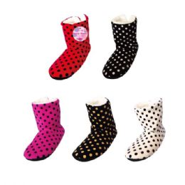 48 Units of Lady's's fuzzy boots - Women's Slippers