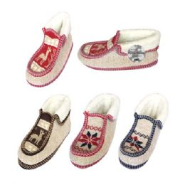 24 Units of Unisex Knit Boots Size 7/8 9/11 11/12 - Girls Slippers
