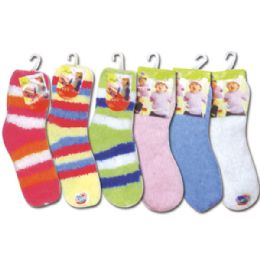 144 Units of Baby fuzzy socks - Baby Apparel
