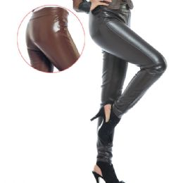 12 Units of Faux leather legging Large XLarge Black And Brown - Womens Leggings