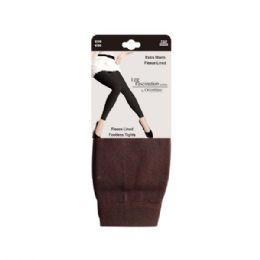 48 Units of Women's Fleece Lined Leggings in Coffee - Womens Leggings