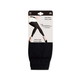 48 Units of Fur lined fleece legging black - Womens Leggings