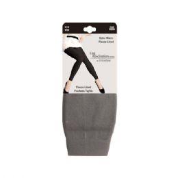 48 Units of Furlined fleece legging gray - Womens Leggings