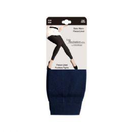 48 Units of Furlined fleece legging navy - Womens Leggings