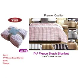 "8 Units of 2.5kg Premier fleece blanket 75x91""/190x230cm - Fleece & Sherpa Blankets"