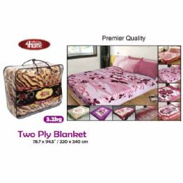 "8 Units of 3.2kg 2-ply Blanket/Queen 87x94.5""/220x240cm - Comforters & Bed Sets"