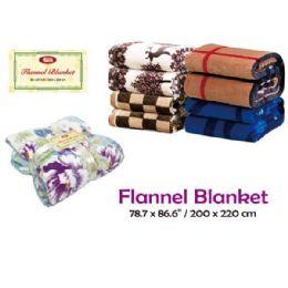 "24 Units of Flannel Blanket/queen 78.7x86.6""/200x220cm - Comforters & Bed Sets"