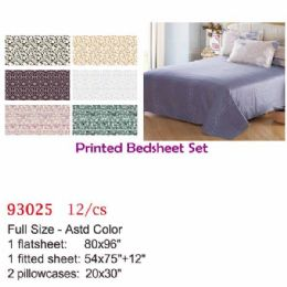 12 Units of Printed bed sheet set/Full - Comforters & Bed Sets