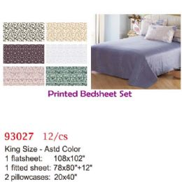 12 Units of Printed bed sheet set/King - Comforters & Bed Sets