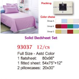 12 Units of Solid bed sheet set/Full - Comforters & Bed Sets