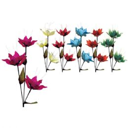"""36 Units of 33""""/3 Heads flower with Glitter - Artificial Flowers"""