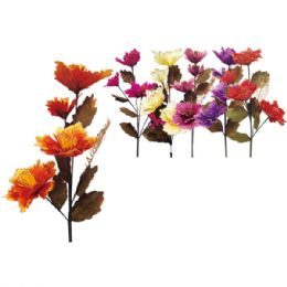 """48 Units of 45""""/4 Heads flower with Glitter - Artificial Flowers"""
