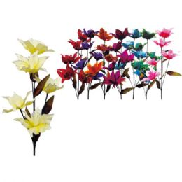 """48 Units of 45""""/5 Heads flower with Glitter - Artificial Flowers"""