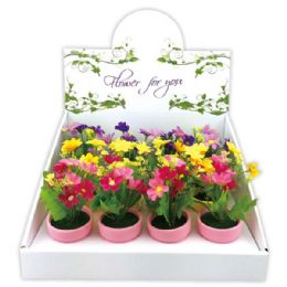 """72 Units of 5""""Daisy in pot - Artificial Flowers"""