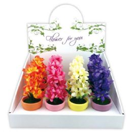 """72 Units of 5""""Flower in pot - Artificial Flowers"""