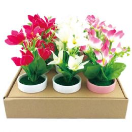 """36 Units of 7.5"""" Lily in pot - Artificial Flowers"""
