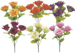 72 Units of Flower Assorted Colors - Artificial Flowers
