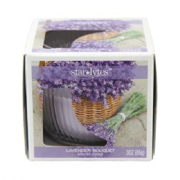 72 Units of Lavender candle 3oz - Candles & Accessories