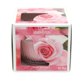 72 Units of Rose candle 3oz - Candles & Accessories