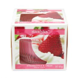 72 Units of Strawberry candle 3oz - Candles & Accessories