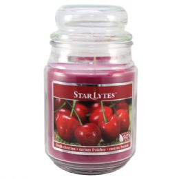 24 Units of Cherry candle 18oz - Candles & Accessories