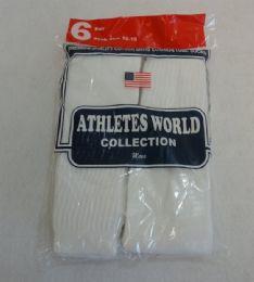 144 Units of Yacht & Smith 31 Inch Men's Long Tube Socks, White Cotton Tube Socks Size 10-13 - Mens Tube Sock