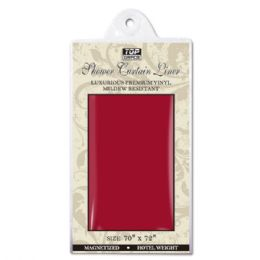 48 Units of Shower Curtain Burgundy - Shower Curtain
