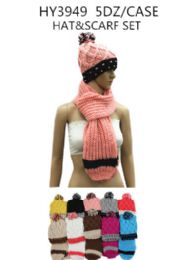 60 Units of Ladies Fashion Winter Hat And Scarf Set - Fashion Winter Hats