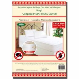 24 Units of Zipped Mattress Cover Twin - Blankets & Bedding