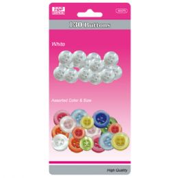 96 Units of Buttons White And Colored Set - Sewing Supplies