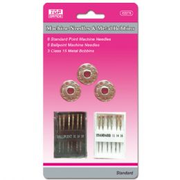96 Units of Machine Needles Set With Metal Bobby Pins - Sewing Supplies