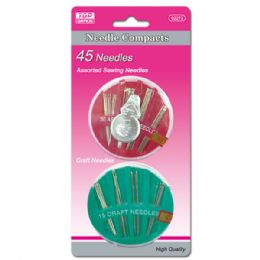 96 Units of Needles With Compacts - Sewing Supplies