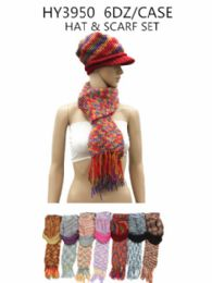 36 Units of Ladies Fashion Winter Hat And Scarf Set - Fashion Winter Hats