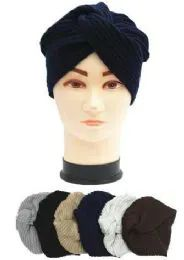 72 Units of Ladies Fashion Winter Knit Turban Hat - Fashion Winter Hats