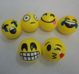 "72 Units of .4"" Large Emoji Squish Ball - Balls"