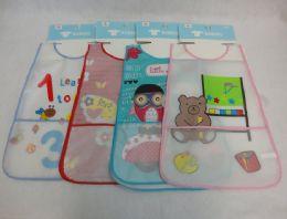 "36 Units of 19""x10"" Child's Plastic Artist Smock/bib - Baby Accessories"