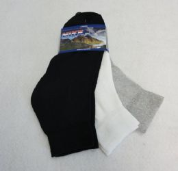 60 Units of 3pr BLK/GRY/WHITE Ankle Socks 9-11 [HIKE] - Boys Ankle Sock