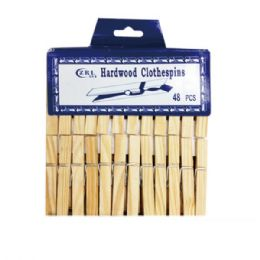 96 Units of 20 Piece wood clip - Laundry  Supplies