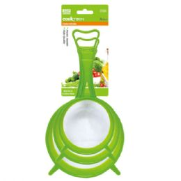 96 Units of Three piece strainer with handle - Strainers & Funnels