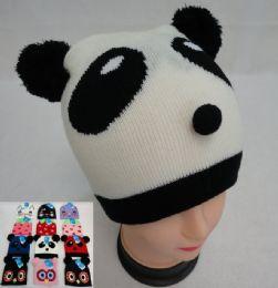 48 Units of Kid's Animal Knit Hats cat/strawberry/panda/owl - Junior / Kids Winter Hats